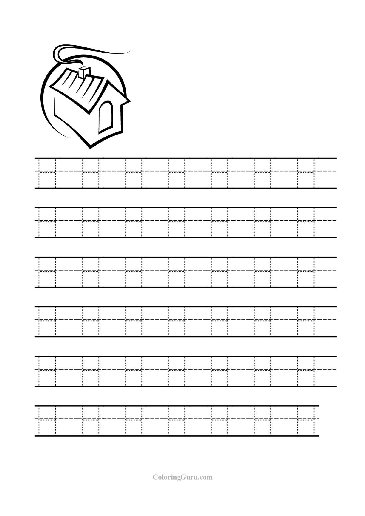 Letter H Tracing Page