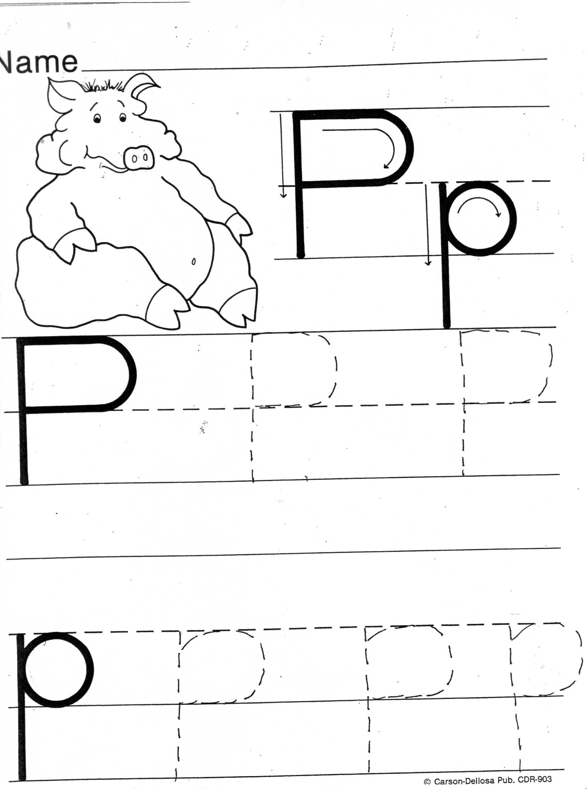 Letter P Tracing Worksheet