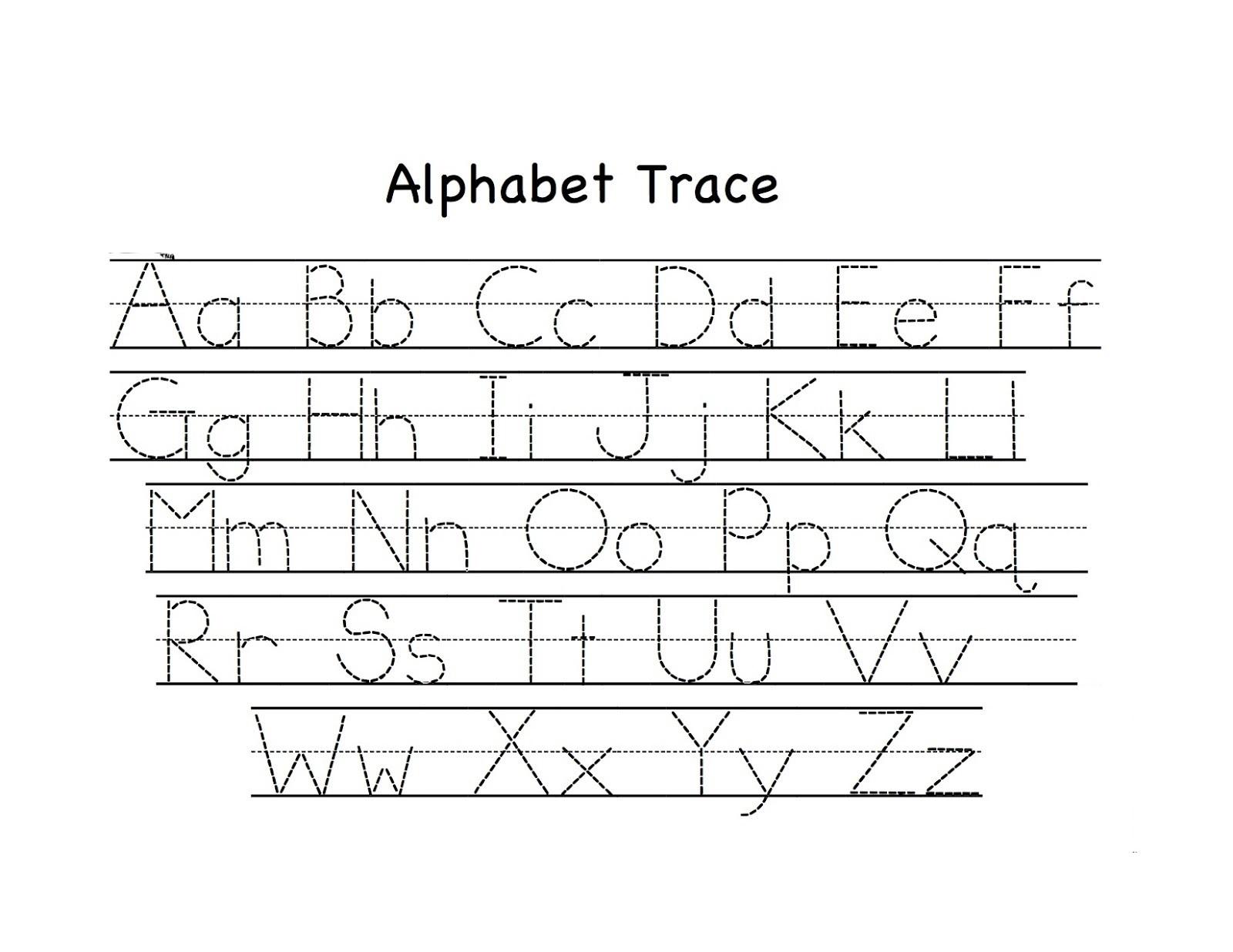 Pre K Alphabet Tracing