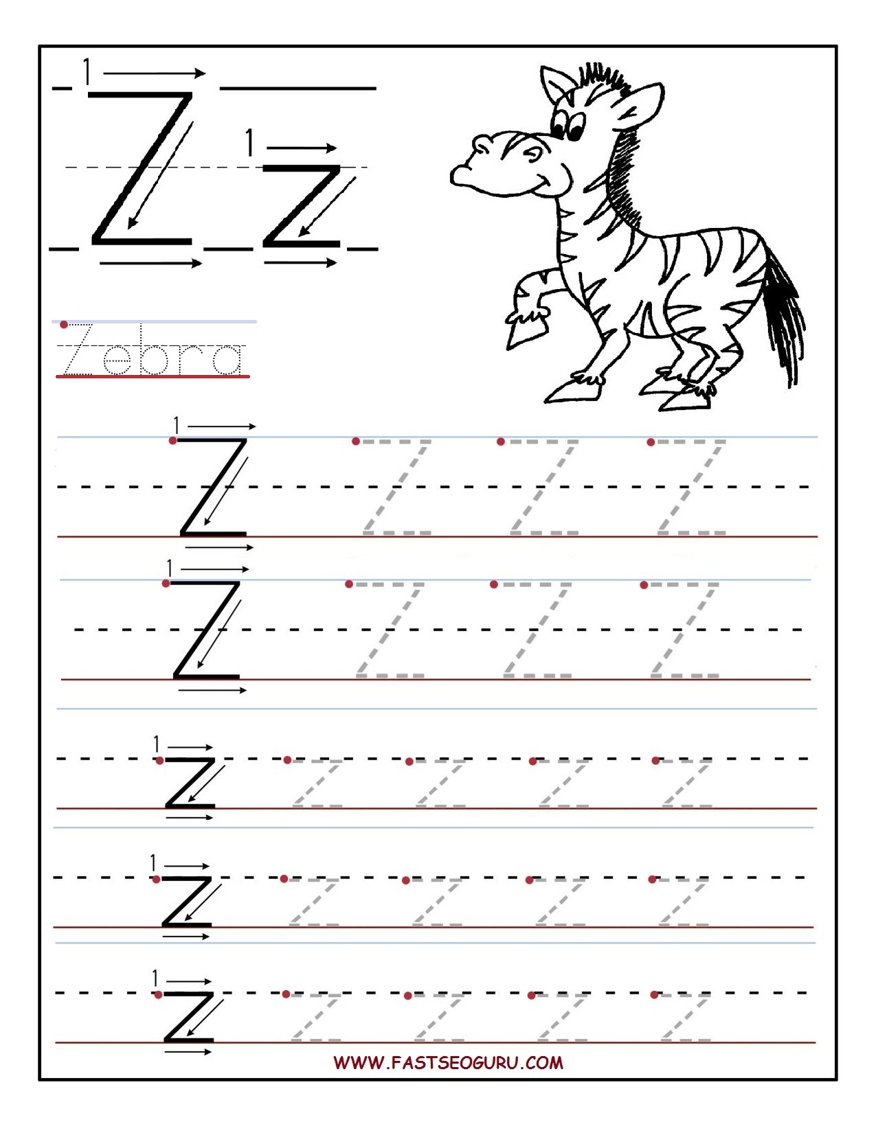 Letter U Tracing Worksheets Preschool