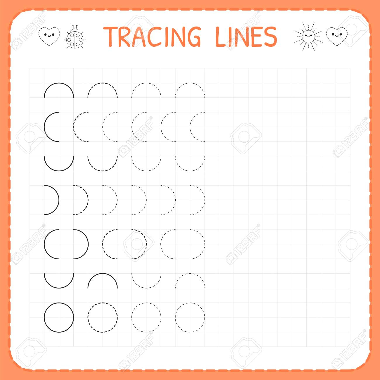 Tracing Font For Kindergarten With Lines