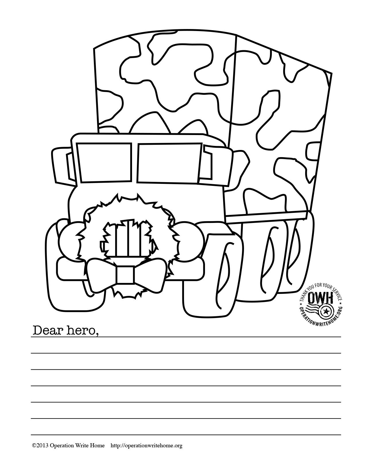 Merry Christmas Big Hungry Bear Worksheet