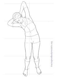 figure templates body template models drawing female form mode tracing croquis figures alternative fabulous kami character human gemerkt von