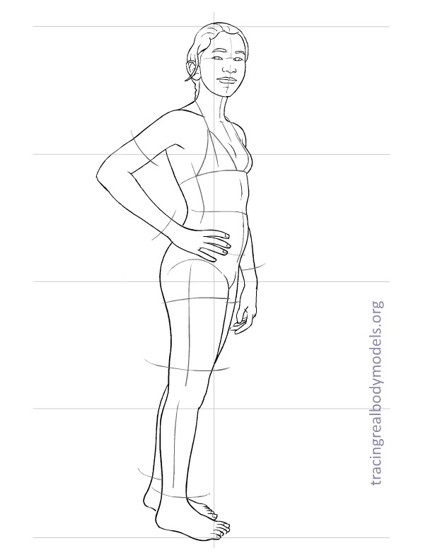 6 new real body models, 33 fashion figure templates