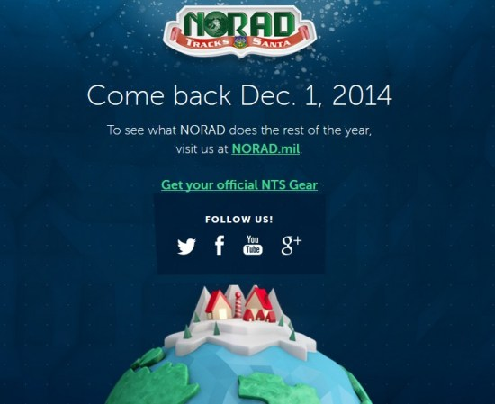 Official NORAD Santa Tracker website
