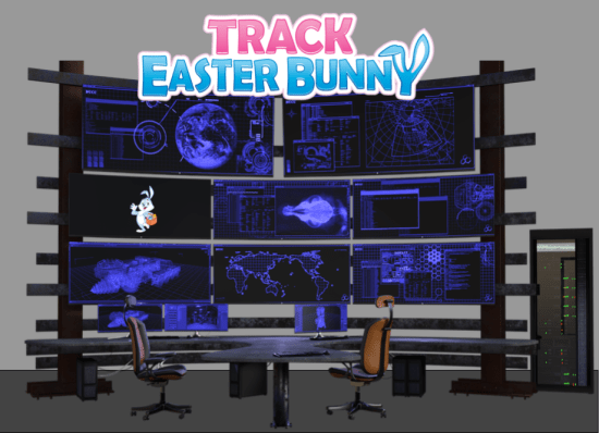 Track Easter Bunny Headquarters 2017