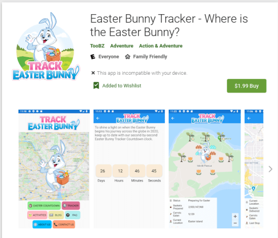 Easter Bunny Tracker Android App