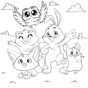 Easter Bunny Helpers Coloring Pages App
