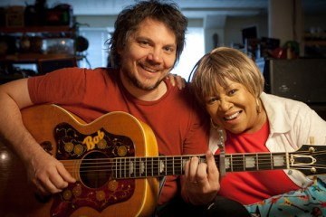 Mavis Staples with Jeff Tweedy by Jim Newberry