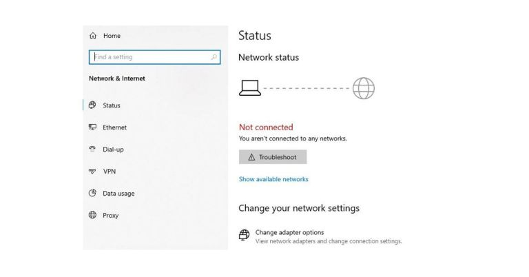 No internet connection in Windows 10? the Quick fix