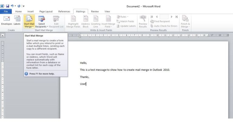 Mail Merge in Word 2010 complete tutorial