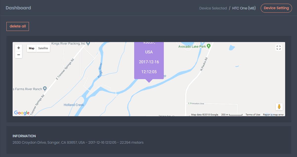 Free GPS tracker using TrackerFree
