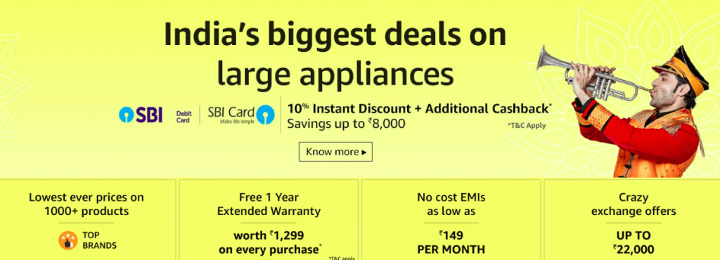 Amazon Great Indian Festival Sale Refrigerator Offers