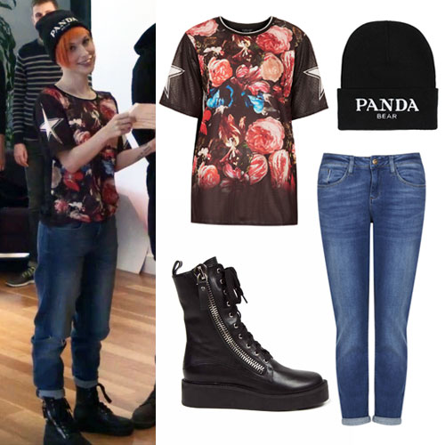 hayley-williams-floral-jersey-outfit