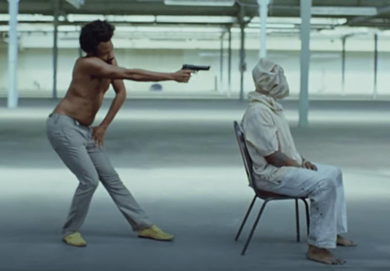 videoclipe de 'this is america', que é um videoclipe com uma pauta importante assim como 'angels like you'