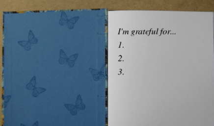 gratitude thankfulness journal