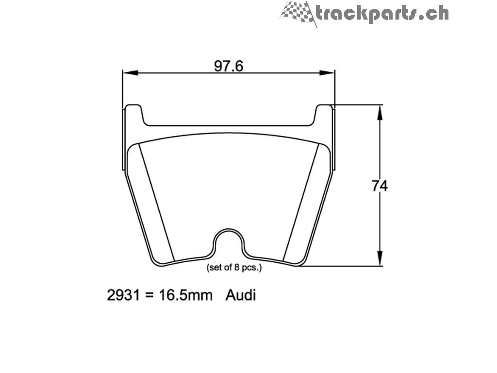 Pagid Audi Rs3 8v Rs4 B7 B8 Rs5 B8 Rs6 C5 R8 Tt Rs