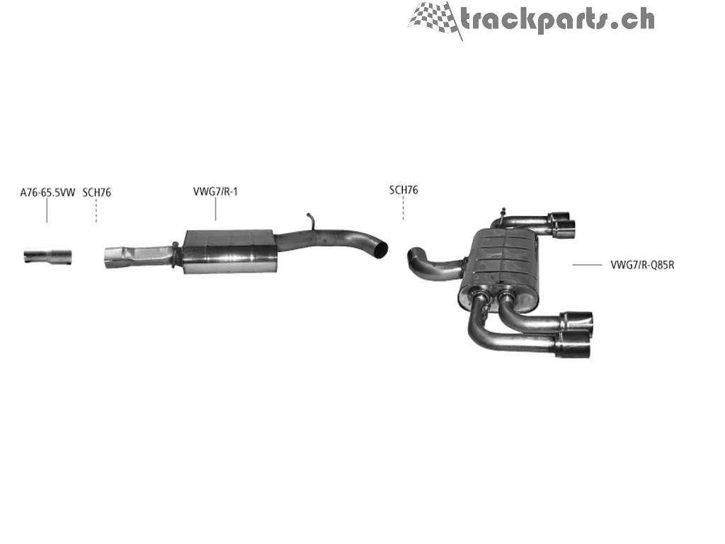 Bastuck Audi S3 8v Vw Golf 7 R Auspuffanlage 1 698 00