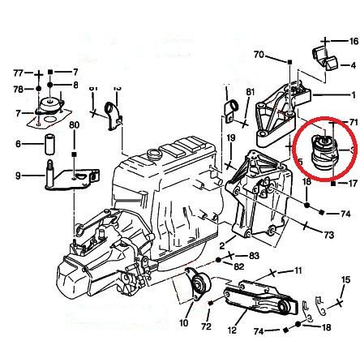 Vibra-Technics Citroen Saxo, Peugeot 106 Motorlager, 165