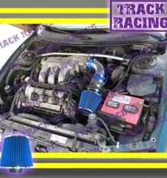 details about 93 94 95 96 97 ford probe gt mazda mx6 626 2 5l v6 air intake kit blue tb [ 1200 x 1200 Pixel ]