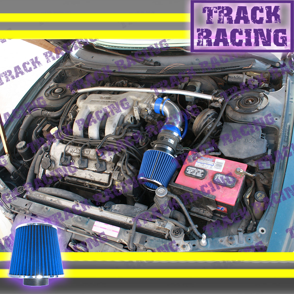 hight resolution of details about 93 94 95 96 97 ford probe gt mazda mx6 626 2 5l v6 air intake kit blue tb