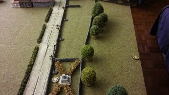 Mike does his usual sneak up the flank manoeuvre to place his JOP's.