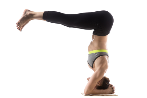 dolphin to headstand transition