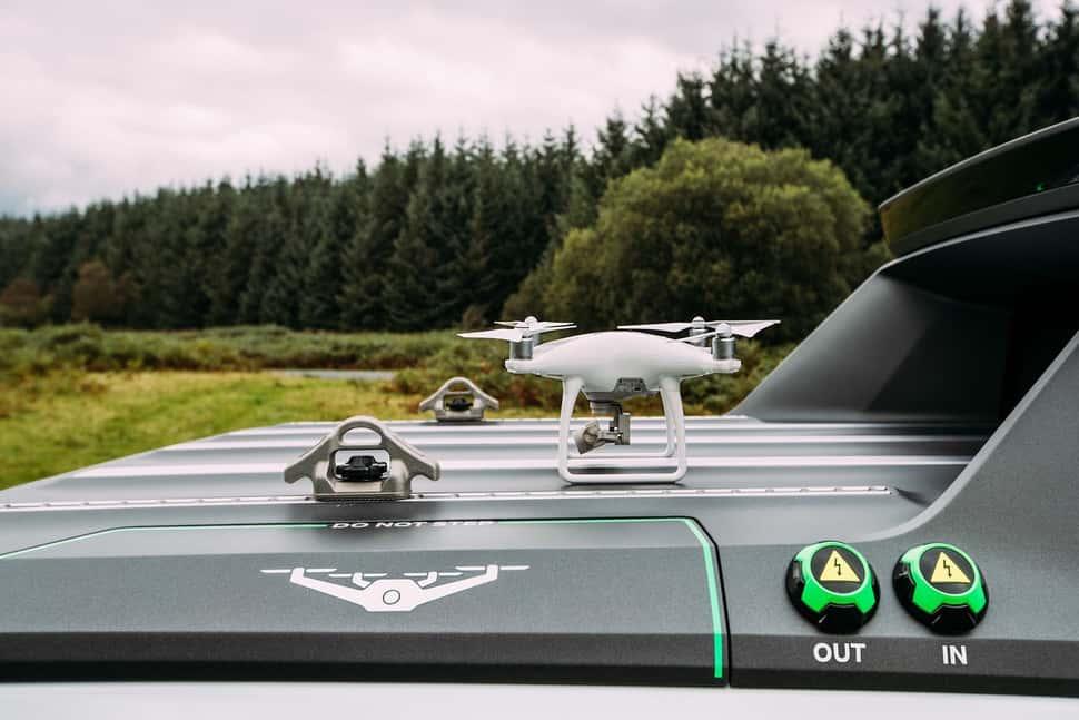 Nissan Navara EnGuard Concept Rescue Truck drone
