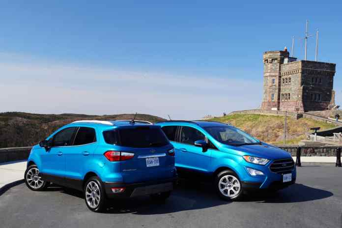 2018 Ford EcoSport Review front and back profiles