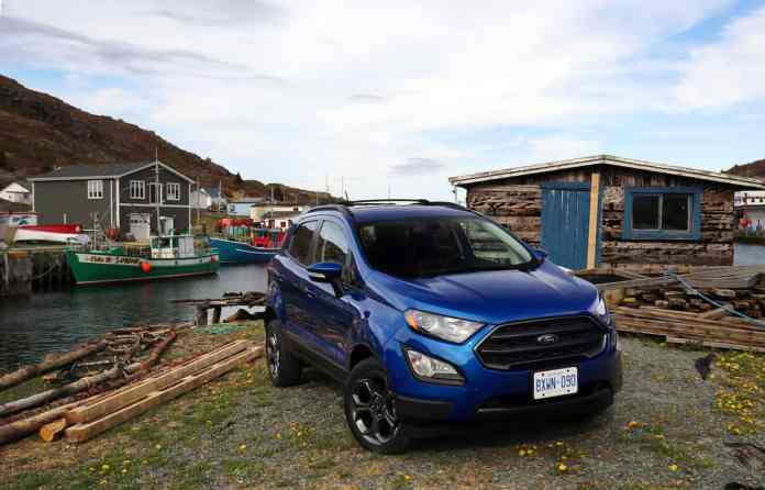 2018 Ford EcoSport Review front blue