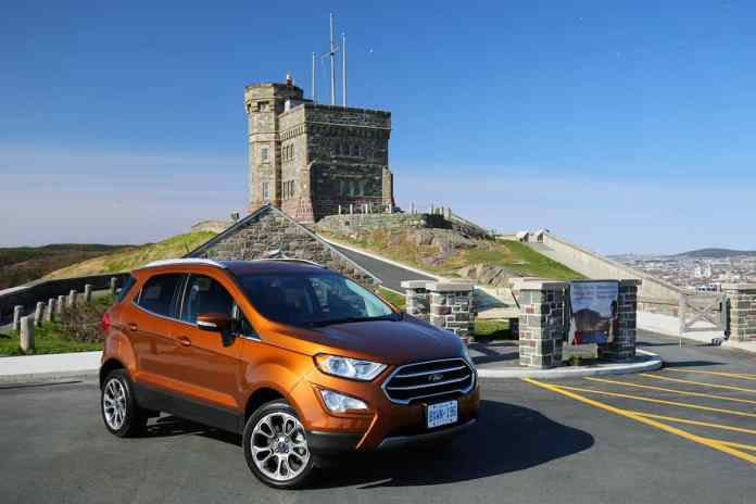 2018 Ford EcoSport Review front orange