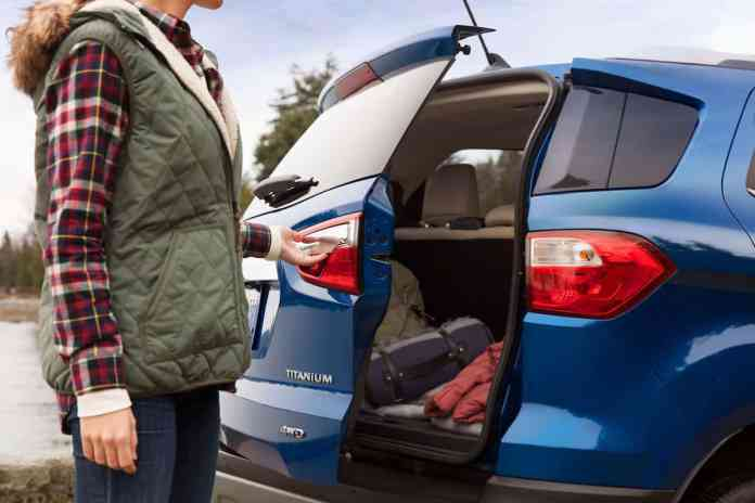 2018 Ford EcoSport Review rear door