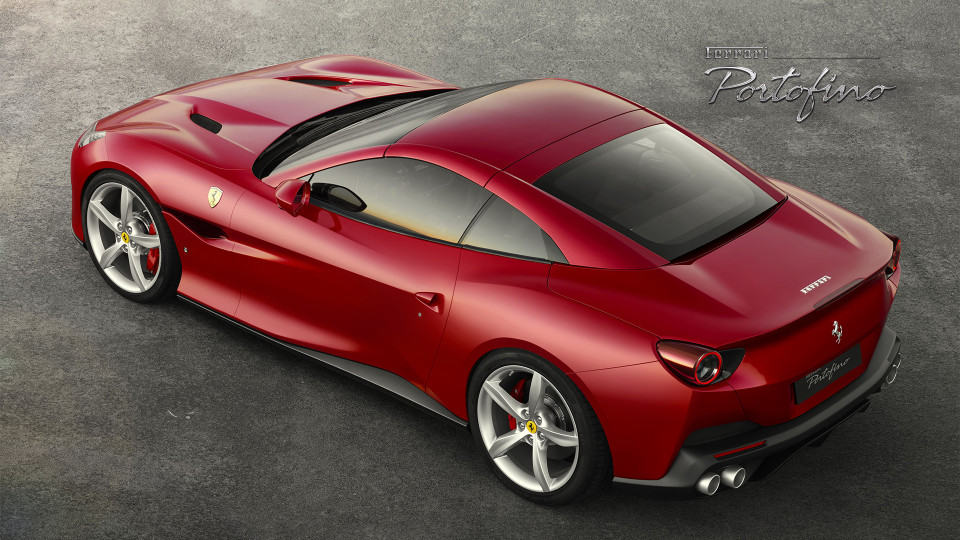 2018 Ferrari Portofino top rear