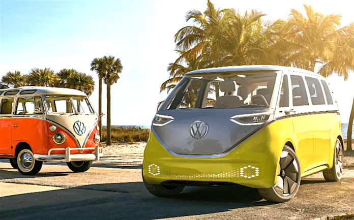 2022 volkswagan I.D. BUZZ electric concept microbus