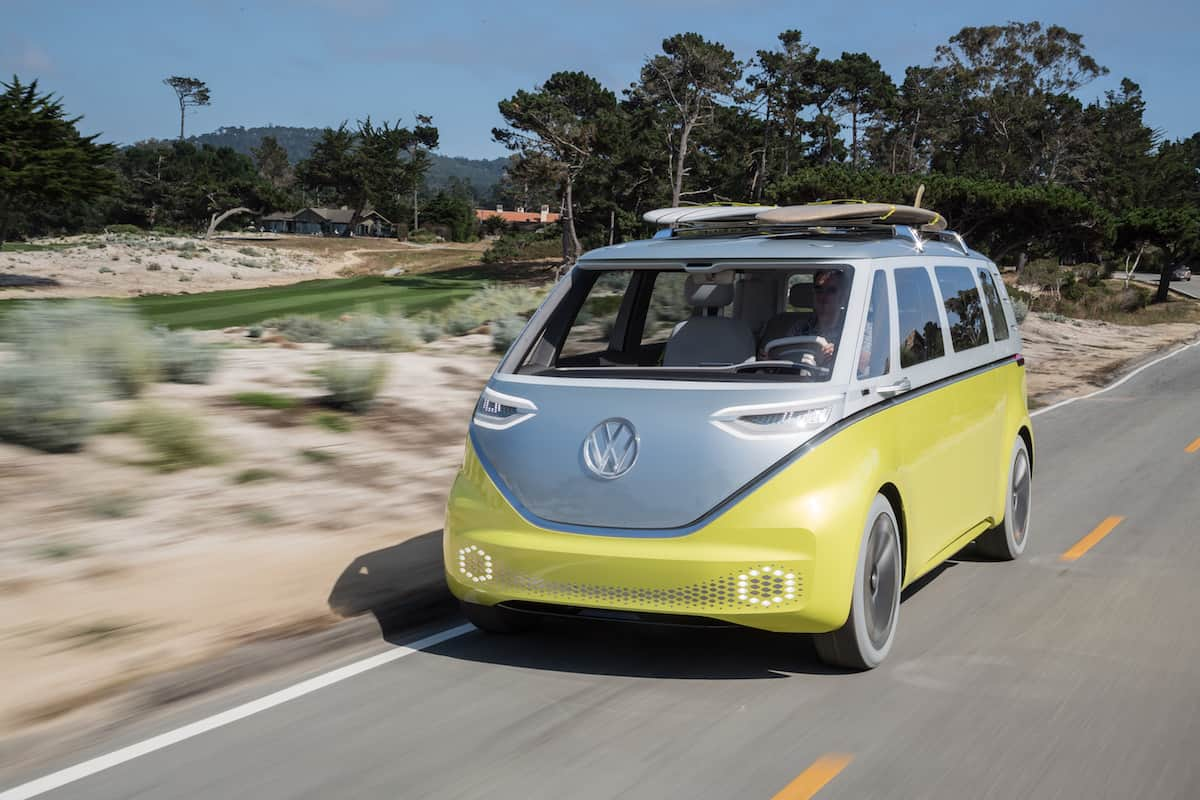 volkswagen I.D. BUZZ electric concept front rolling