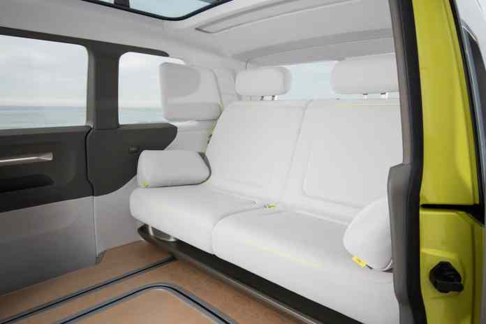 volkswagen I.D. BUZZ electric concept rear seats