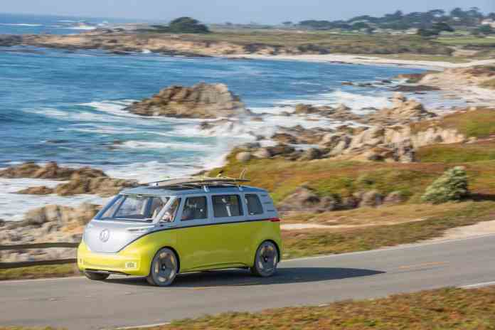 volkswagen I.D. BUZZ electric concept rolling sideview