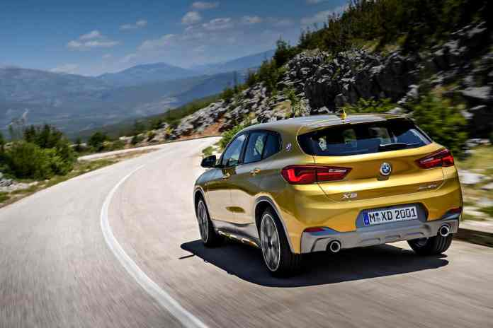 2018 bmw x2 crossover rear rolling 2