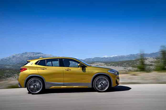 2018 bmw x2 crossover sideview