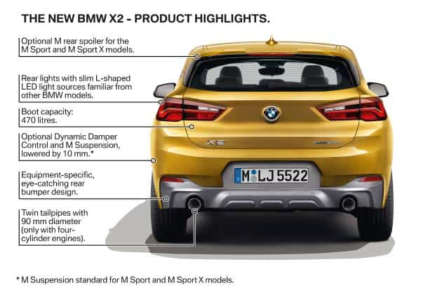 2018 bmw x2 features rear