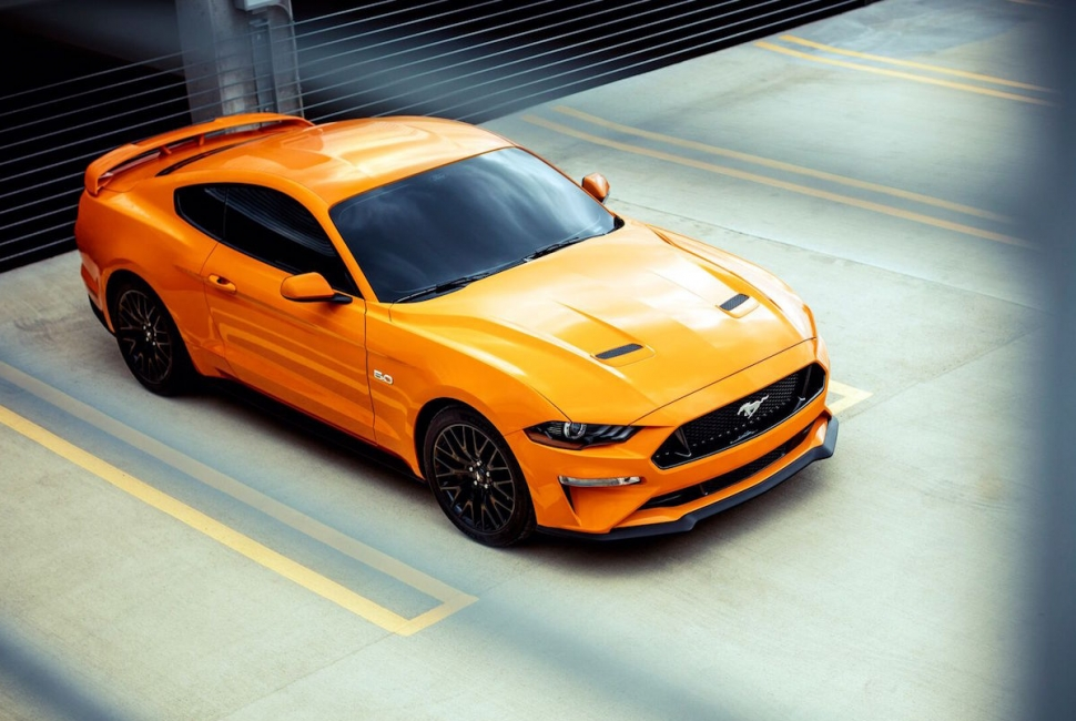 2018 ford mustang gt review top view