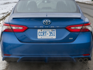 2018 Toyota Camry SE Review rearend profile