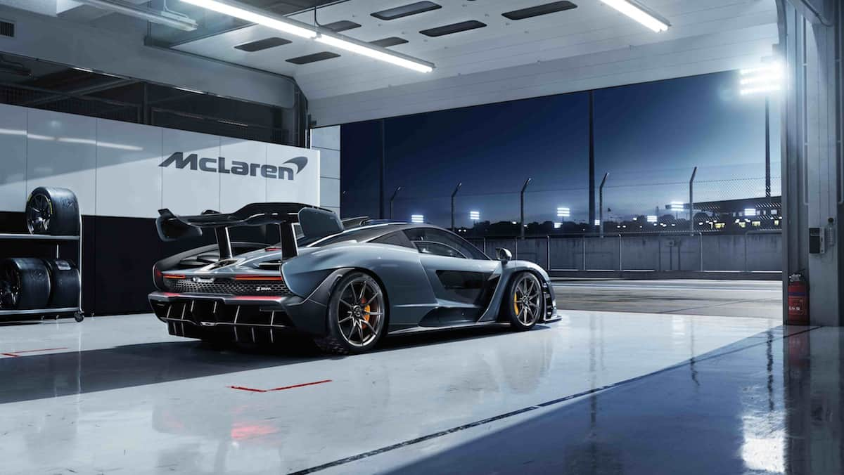 mclaren senna rear profile