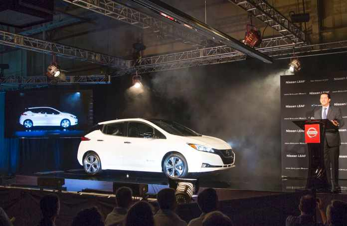 U.S. production for 2018 Nissan LEAF begins in Tennessee today