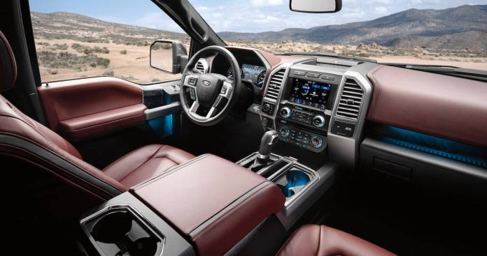 New 2018 Ford F-150 interior