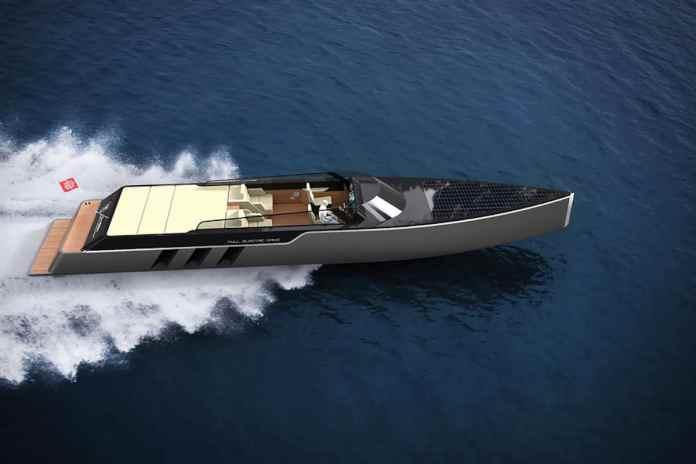 Tesla E-Vision GT Boat concept top view
