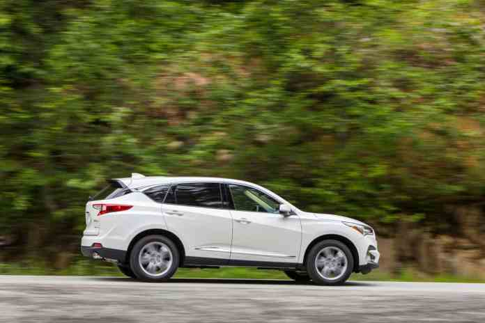 2019 acura rdx side rolling white