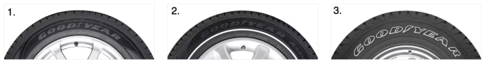tire sidewall markings 3 types offered by goodyear