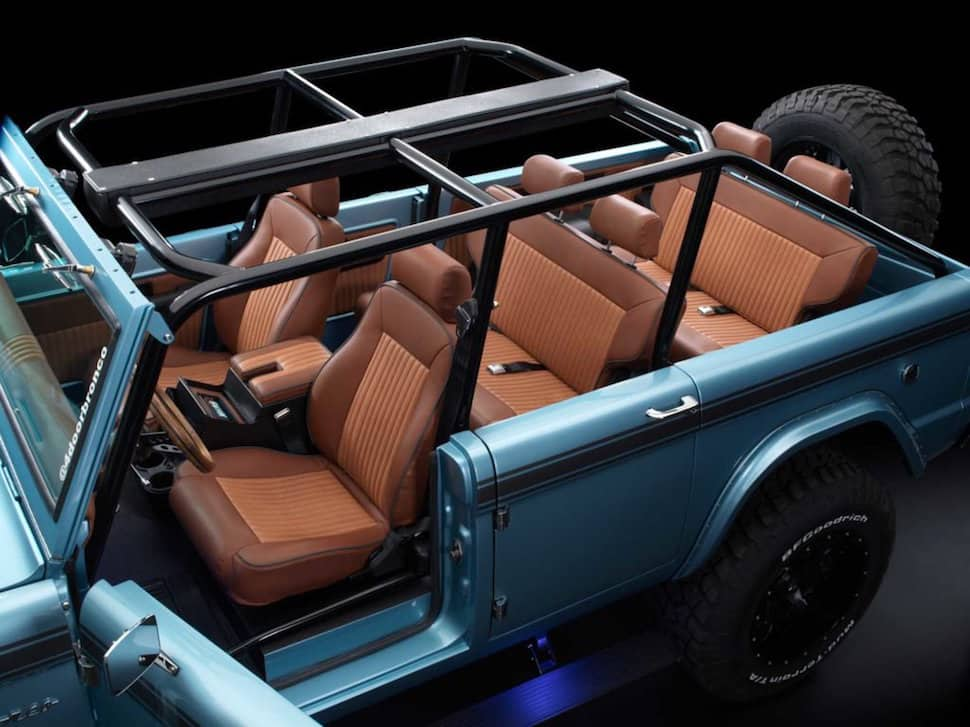670-hp 4-Door Bronco Restored to Perfection rear cabin