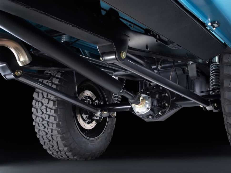 670-hp 4-Door Bronco Restored to Perfection undercarriage